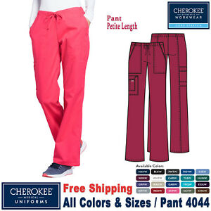 Cherokee Scrubs CORE STRETCH Women's Medical Uniform Mid Rise Cargo Pants 4044