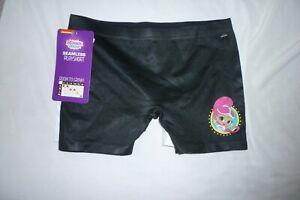 New Girls Medium Shimmer and Shine Panties 2 pack Boyshorts Black and White