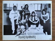 Iron Maiden Black & White Photograph Print Hand Signed Autograph By Steve Harris