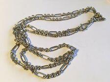 """Vintage Estate Sterling 36"""" Curb Link Chain"""