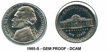 1985-S Proof Jefferson Nickel (Clad) - Nice DCAM