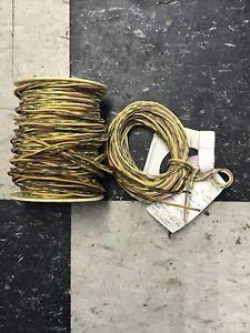 Western Electric 24GA 3 Wire Cloth/enamel  Grn/red, Yellow, Grn/yellow