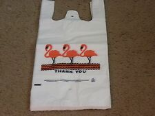 T - Shirt Plastic Bags White Flamingo Small Size 7 x 5 x 15
