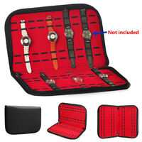 20 Slot Zip Lock Watch Display Box Leather Velvet Jewelry Storage Case Organizer
