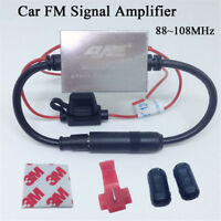 Anti-interference Metal FM Signal Amplifier Car Antenna Radio Universal Booster