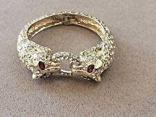 Crystal Bronze Snake Cuff Bracelet