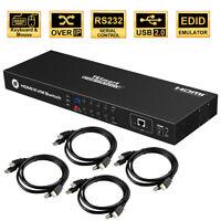 TESmart 8 Port 8x1HDMI KVM Switch Box Support 3840*2160/4K Rack Ears