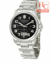 New Victorinox Swiss Army 241370 Army Officers Mecha Sapphire ST.Steel Automatic