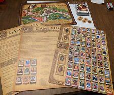 Disney World Sorcerer of The Magic Kingdom Game board Jafar w/ Card Deck Tokens