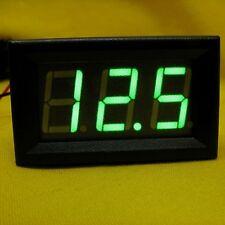 LED Volt Gauge Meter Voltage GREEN Panel Voltmeter Battery DC 24V 36V 48V 96V120