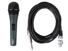 Microfono Micro Dinamico Voce Canto con Valigetta e Cavo XLR
