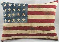 Stars and & Stripes American USA Flag Tapestry Cushion Evans Lichfield