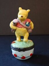 Midwest Cannon Falls Disney Pooh Ceramic Trinket Box Teacher School Learn Wonder