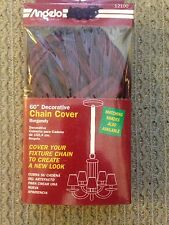 """NEW DECORATIVE LIGHT FIXTURE CHAIN COVER - 60"""" BURGUNDY"""