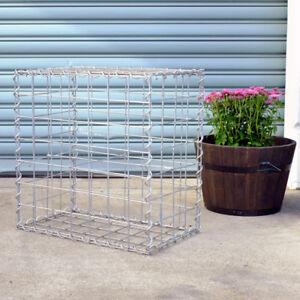 Gabion Cage 525mm L x 300mm W x 525mm H, 75x75mm, AL-TEN Garden Bench, Edge