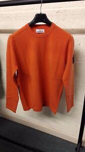 Stone Island Crewneck Wool Knit In Orange RRP £235