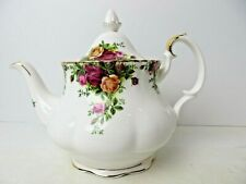 Royal Albert Old Country Roses Teapot 6 Cup Bone China England #4409