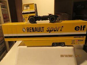 1/43 LBS ELIGOR TRACTEUR BERLIET TR 350 V8 TURBO SEMI-REMORQUE RENAULT SPORT