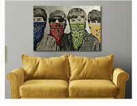 Banksy Beatles - Bandanas - Graffiti Canvas Wall Art