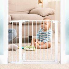 New ListingBaby Gate Extensible Safety Gate Pets Door with Unlock Alarm & U-Pressure Bolts