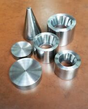"""3 Double Sided 20° Fold Over Reduction Dies 1.0"""" to 1.5"""" Making Coin Ring Tools"""