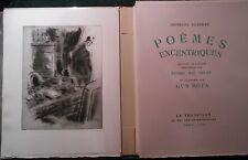 Georges GUIERRE, Poèmes Excentriques (1938), illustré par Gus BOFA.