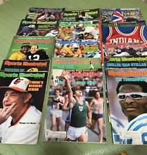VINTAGE LOT OF 15 1970'S 80'S SPORTS ILLUSTRATED MAGAZINES.