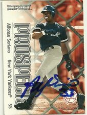 2000 Skybox ALFONSO SORIANO Signed Card autograph [ROOF YANKEES RC