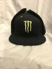 Rare Monster Energy Hat Beanie Ear Flap Early Winter X Games Snowboarding Skiing