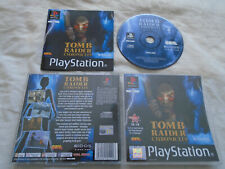 Tomb Raider Chronicles PS1 (COMPLETE) Sony PlayStation Lara Croft black label