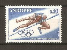 Andorra ( Correo Francés ) : 1968 Juegos Olímpicos México ( MNH )