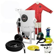 SCHMIDT AXXIOM STYLE 6.5 CUFT SAND BLASTER WITH REMOTE, HOSE, NOZZLE, HOOD, SUIT