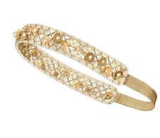 CHANEL CC logo 2018 Flora Headband Pearls Gold Cruise17 Crown Tiara runway NEW