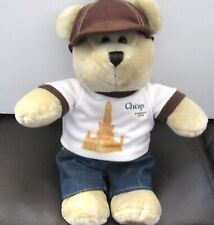 Starbucks  Coffee Co. Bearista Plush Bear Chicago shirt -jeans- brown hat-2010