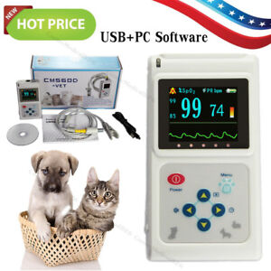 Veterinary Pulse Oximeter SPO2 Pulse Rate Monitor 24Hours Record Free Software