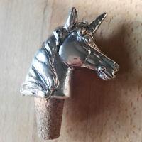 Flaschenkorken Korken Landhaus Silber Zierkorken Unicorn Einhorn Mystisch Shabby