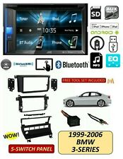 BMW 99-06 3-Series TOUCHSCREEN DVD BLUETOOTH Stereo Kit, 5 Switch Panel E46