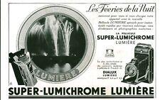 Publicité ancienne pellicule photo SUPER-LUMICHROME 1933