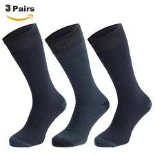 3 Pairs of Men's Long Thermal Socks Winter Warm Soft Arch Support Triple Brushed