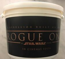 A Star Wars Story:Rogue One World Premiere Popcorn Bucket Unopened 12/10/2016