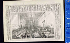 Interior General Post Office St. Martin's le Grand, London -1856 Wood Engraving
