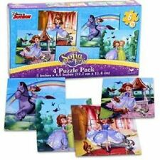 DISNEY SOFIA THE FIRST SET OF 4 JIGSAW PUZZLES 6 PIECES EACH TOTAL 24 PIECESS