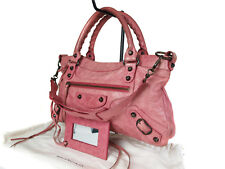 Auth BALENCIAGA The First Leather Pink Hand Bag, Shoulder Bag UBC0001