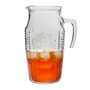 Bormioli Rocco Romantic Water Juice Retro Table Serving Pitcher Jug, 1.6L (54oz)