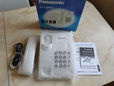 Panasonic  KX-TS500FX Corded Push Button Wall Phone Telephone LCD White Redial