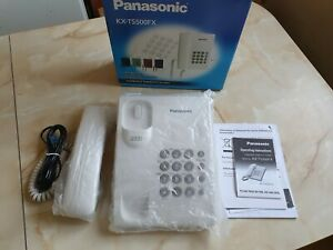 Panasonic  KX-TS500FX Corded Push Button Wall Phone Telephone LCD White Redial