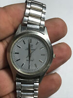 Men's Silver Tone Riviera Analog Watch