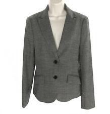 Theory Womens Blazer 8 Rowan 50671109 Black White Wool Stretch Lined Jacket