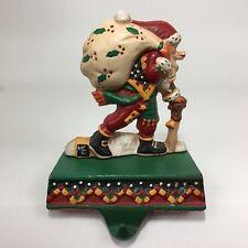 Mary Engelbreit Midwest Santa Christmas Stocking Hanger Cast Iron VTG Holder