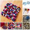4 Size Pom pom Maker kit Fluff Ball Weaver Needle Knitting Craft Bobble Tool IN9